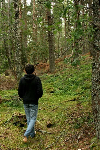 Descalzo por el bosque (en Escocia)